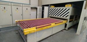 Tempering furnace flat glass used
